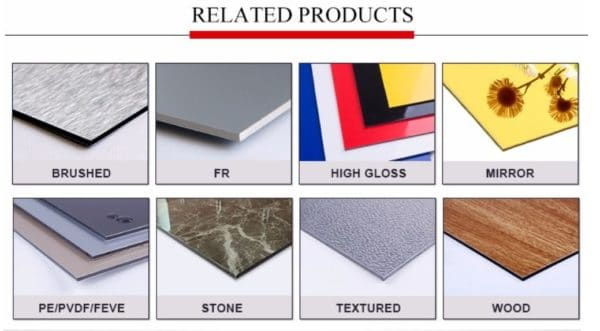 Classification of different finishes of ACP sheets in sign boards