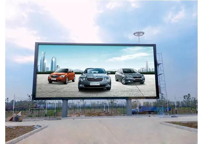 Large Outdoor LED sign board of a car dealer