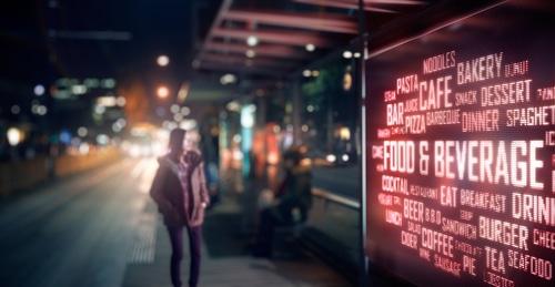 LED display board of food & bevarage signage