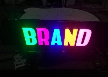 Liquid LED letter board display