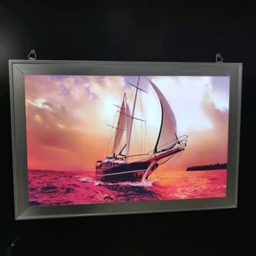 Small Indoor LED display sign board with a ship